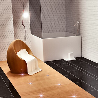 Interior views of luxury toilets